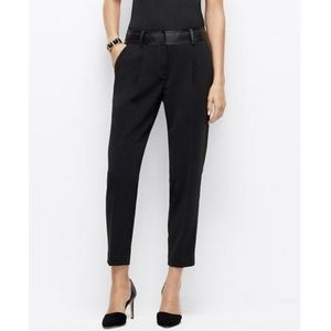 Ann Taylor Faux Leather Waist Pants